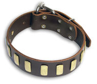 Doberman Personalized Brown collar 23'' /23 inch dog collar