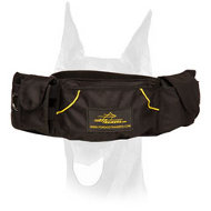 'Swift Reward' Nylon Doberman training pouch for treats and toys