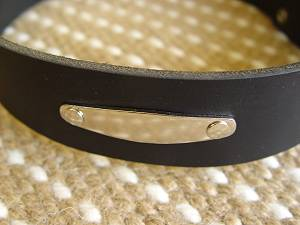 Similar to Preppy Dog Collar With Name Plate ID Tag for Doberman