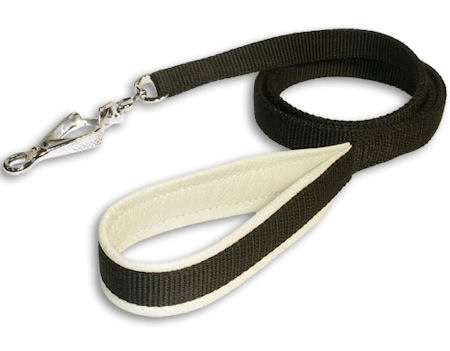 3/4 inch Padded Handle Dog Leash-Doberman Leash