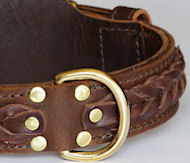 WESTERN DESIGNER CUSTOM LEATHER DOG COLLARS for Doberman