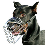Doberman Wire Dog Muzzle