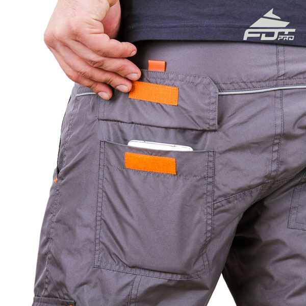 Comfy Design Pro Pants with Strong Back Pockets for Dog Training
