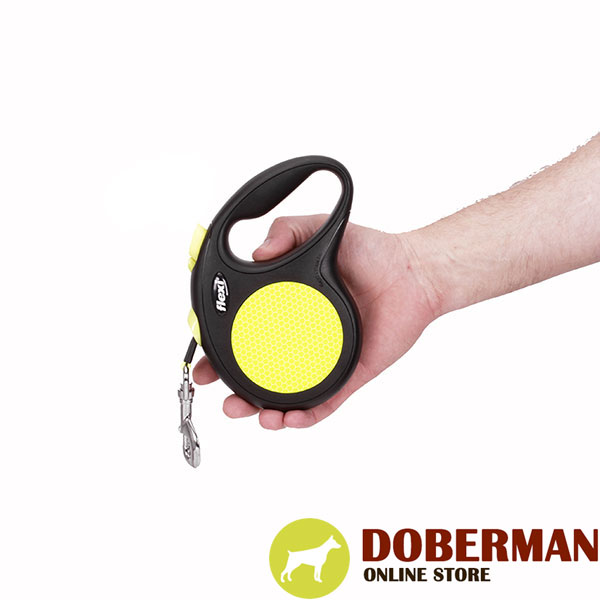 Total Comfort Retractable Leash Neon Style for Walking