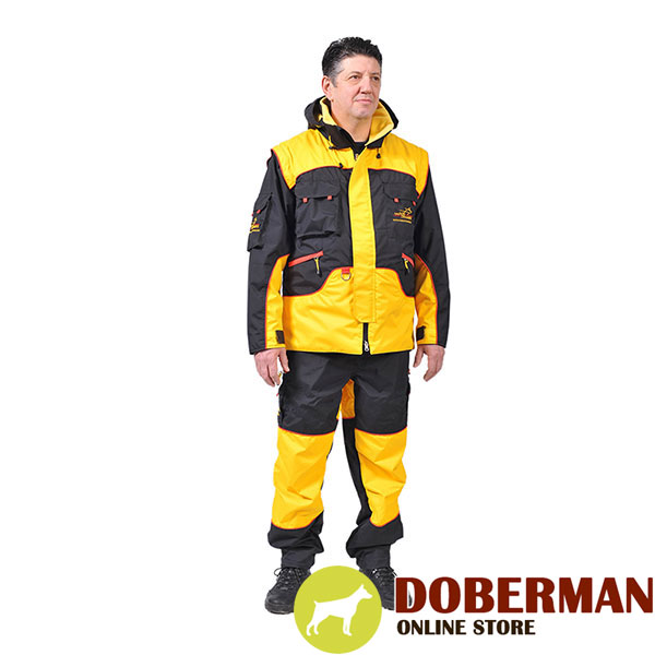 Bite Suit of Water Resistant Membrane Material for Training