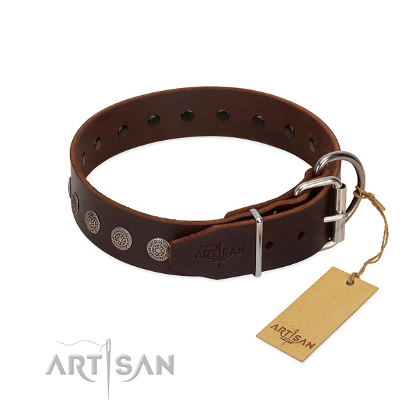 Awesome genuine leather collar for your pet