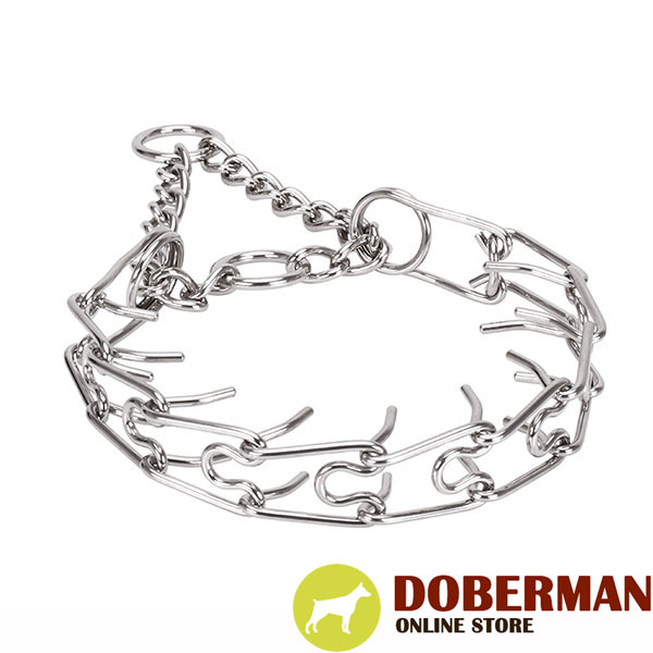Stainless steel dog pinch collar with corrosion resistant removable links