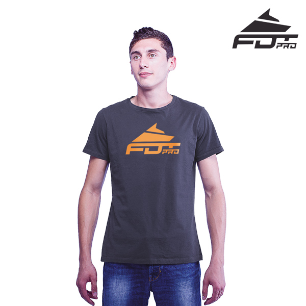 Finest Quality Cotton Professional Men T-shirt of Dark Grey