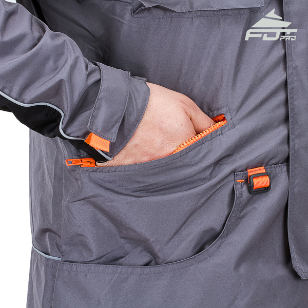 Pro Dog Trainer Jacket with Side Pockets for Any Weather