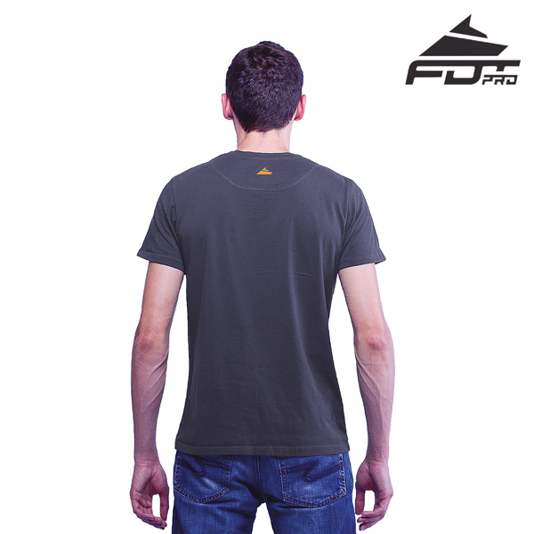 Quality Cotton Men T-shirt of Dark Grey