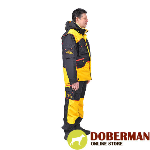 Comfortable Dog Training Bite Suit with a Few Pockets