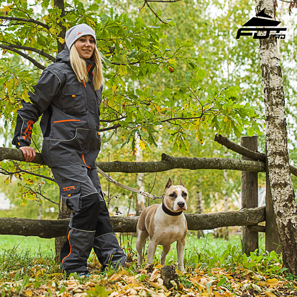 Men and Women Design Active Dog Trainers Pro Pants with Side Pockets