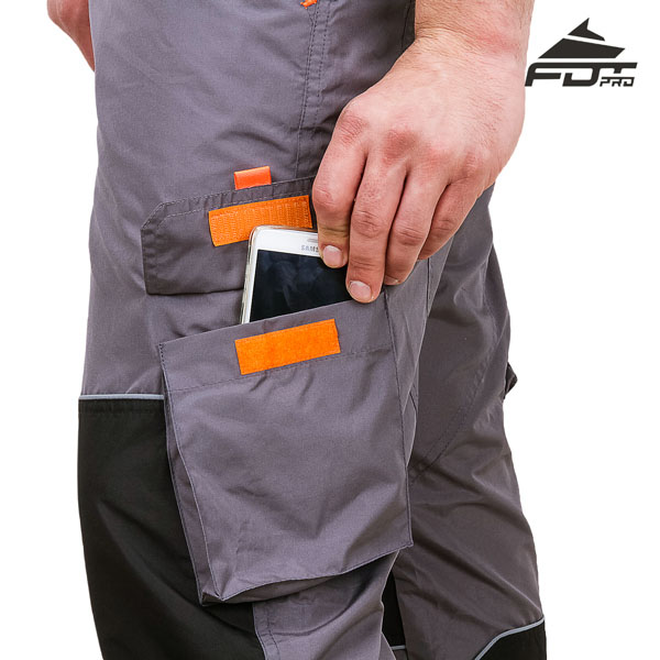 Comfortable Design FDT Professional Pants with Durable Side Pockets for Dog Training