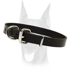 Soft and elegant leather collar