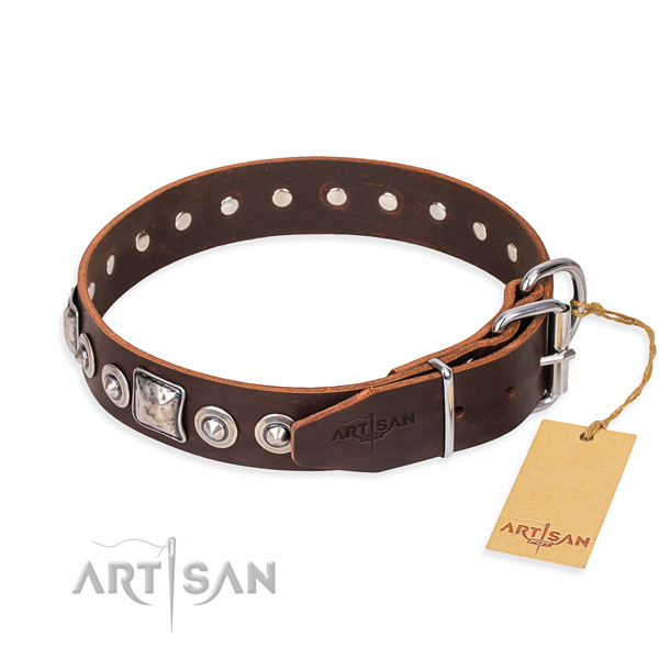 Functional leather collar for your beloved pet