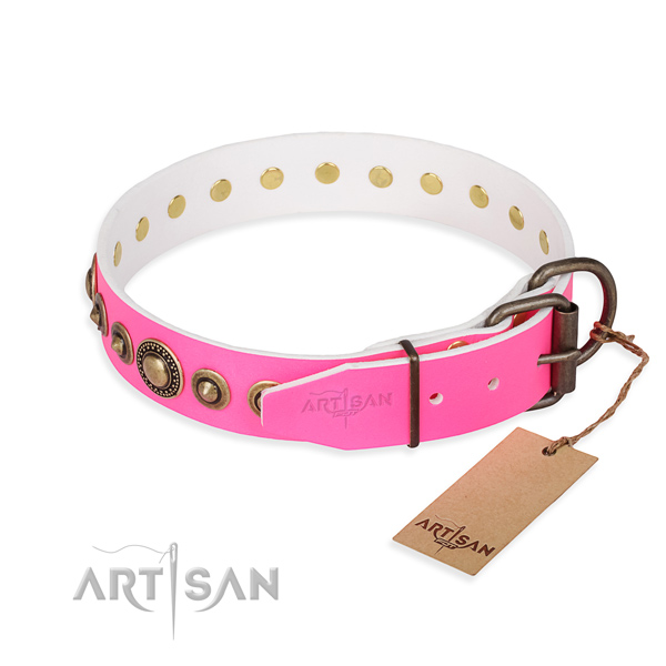 Daily leather collar for your favourite dog