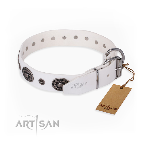 Functional leather collar for your handsome dog