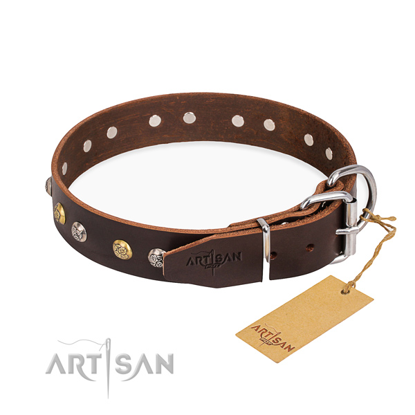 Wear-proof leather collar for your favourite pet