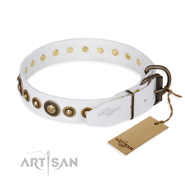 Tear-proof leather collar for your darling pet
