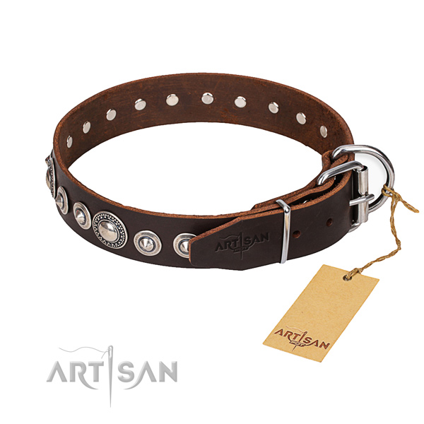 Awesome leather collar for your beloved canine