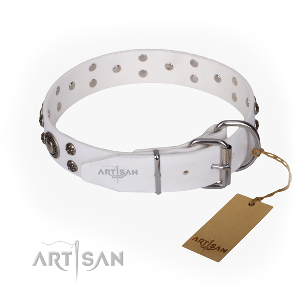 Durable leather collar for your darling pet