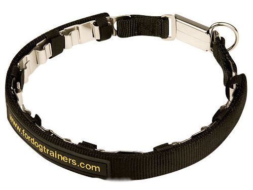Doberman Neck Tech Collar with Nylon Protector