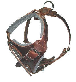 Doberman leather dog harness(handmade leather dog harness)
