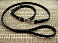 "Police / hunting"" Doberman leash and collar (combo)"