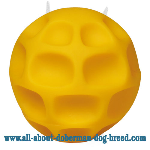 Honeycomb Doberman tetraflex ball for treat dispensing - Large size