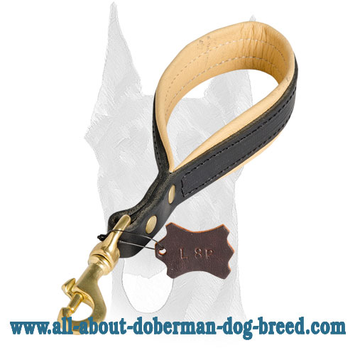 Royal Nappa padding for Doberman leash