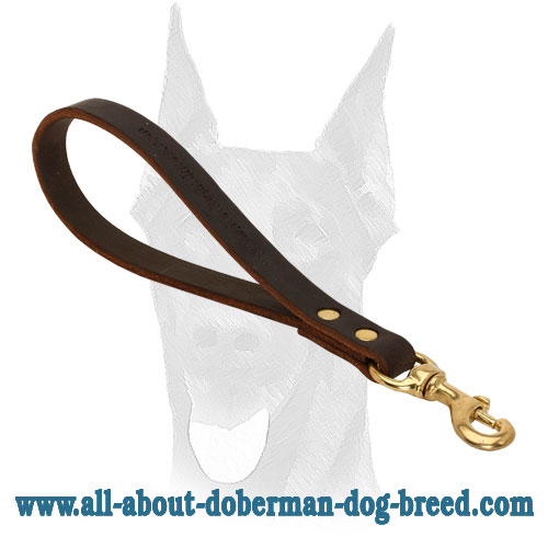 Durable leather Doberman leash