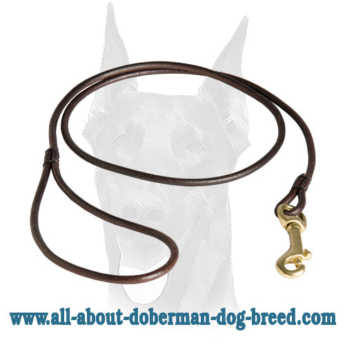 Round Leather Dog Collar Snap Release