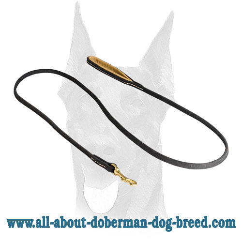 Soft Nappa padding for Doberman leash
