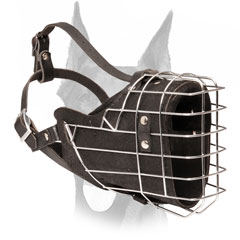Fully padded wire cage muzzle