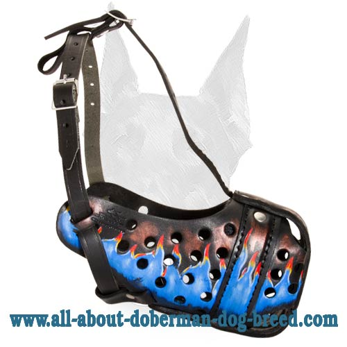 Completely safe Doberman muzzle