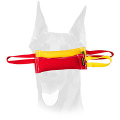 French Linen training bite tugs with one or two handles for Doberman
