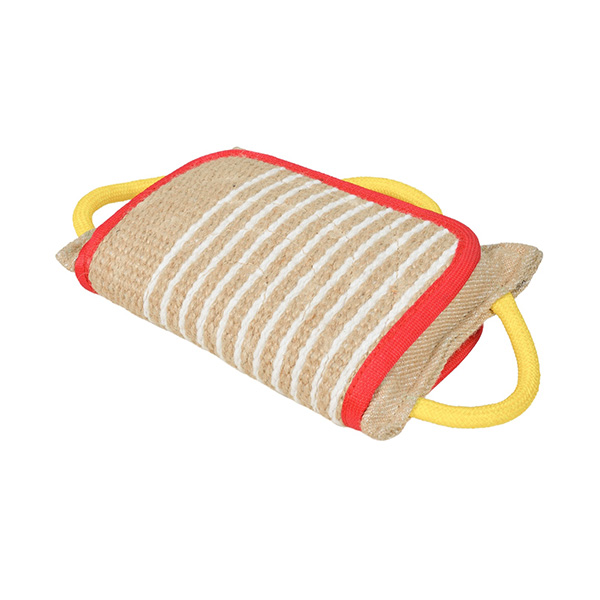Jute bite pad with cover for Doberman
