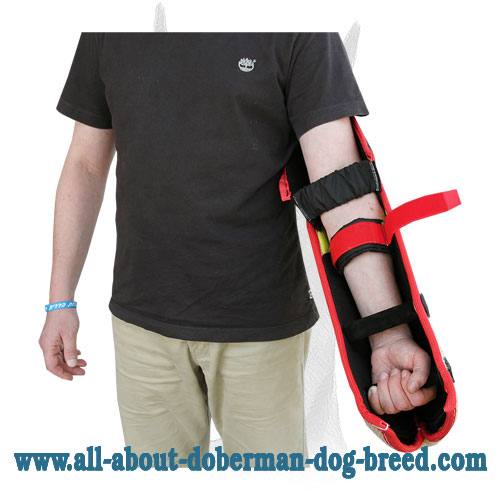 Protective bite sleeve for Doberman trainer