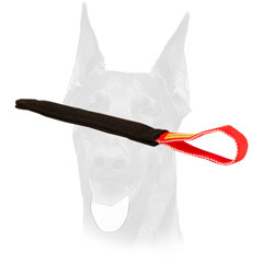 Pocket toy of French Linen with a comfy handle for Doberman