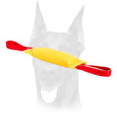 Doberman bite tug with careful stitching for extra durability