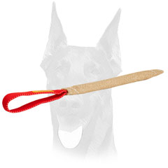 Durable handle for Doberman pocket toy