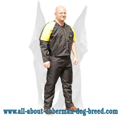 Water-resistant nylon protection jacket for Doberman training